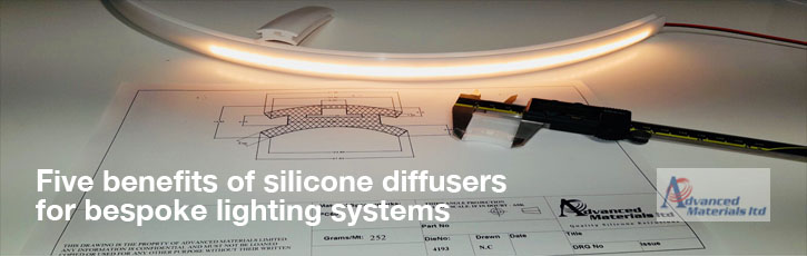 5 benefits of silicone rubber diffusers for bespoke lighting systems