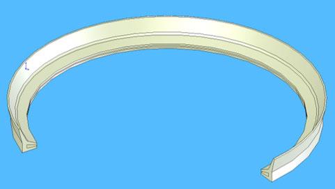 Silicone Rubber Extrusion Lip Seal Profile